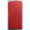 Telone Pocket Slim lefelé nyíló érdes bőrbevonatos fliptok Samsung G928 Galaxy S6 Edge Plus-hoz piros*