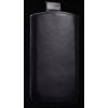 Telone Special álló kihúzhatós bőrtok HTC Desire C méretű fekete*