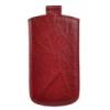 Telone Special Creased álló kihúzhatós bőrtok Samsung i9070 Galaxy S Advance méretű piros*