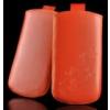 Telone Special Flower álló kihúzhatós bőrtok Apple iPhone 5 méretű narancs*