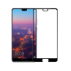 temp-glass598 Huawei P20 Pro -5D teljes lefedettséget biztosító Karcálló,ütésálló kijelzővédő üvegfólia, 9H tempered glass, törlőkendővel fekete