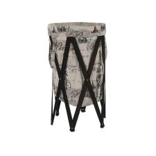 Tempo DZIMBO 1 Összecsukható mosókosár sötétbarna/háttér nyomtatás bútor