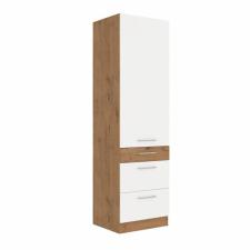 Tempo Felső szekrény, lancelot tölgy - fehér extra magas fényű HG, VEGA 60 DKS-210 3S 1F bútor