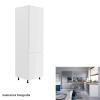 Tempo Hűtő beépítő szekrény, fehér-szürke extra magasfényű, jobbos, AURORA D60ZL