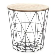 Tempo Kisasztal, természetes-fekete, NANCER bútor