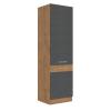 Tempo Magas szekrény, szürke matt-tölgy lancelot, VEGA 60 DK-210 2F