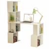 Tempo PC asztal könyvespolccal, fehér, FLOKI NEW