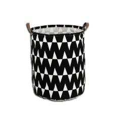 Tempo Szennyestartó kosár, fekete-minta fehér, PLEJO TYP 1 bútor