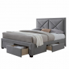 Tempo XADRA luxus modern ágy nagy steppel fejtámlával és praktikus tároló helyekkel több méretben