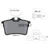 TEXTAR Fékbetét készlet, tárcsafék TEXTAR 2476501