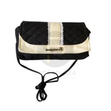 Textil kistáska - fekete kézitáska és bőrönd