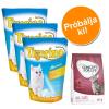 Tigerino Próbacsomag: 3 x 5 l Tigerino alom + 400 g Concept for Life - Tigerino + Light Adult