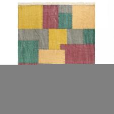 Többszínű nyomtatott kéziszövésű kilim pamutszőnyeg 160x230 cm lakástextília