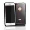 Tok, aluminium bumper+hátlap, Huawei P8 Lite, fekete, csomagolás nélkül