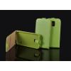 Tok, flip tok, Sony Xperia Z3 Compact (Mini), zöld, flexi, csomagolás nélküli