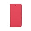 Tok, mágneses oldalra nyíló Smart flip tok, Huawei Mate 9, piros, (szilikon belsővel), csomagolás nélküli