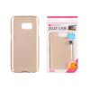 Tok, Mercury Jelly, szilikon, (csillámporos), Samsung Galaxy A8 (2018) A530, arany