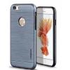 Tok, Motomo, szálcsiszolt aluminium hátlap, szilikon kerettel, Apple Iphone 7 Plus, 8 Plus, szürke