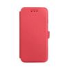 Tok, oldalra nyíló flip tok, Huawei P20 Lite, piros, flexi, csomagolás nélküli