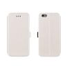 Tok, oldalra nyíló flip tok, Huawei P8, fehér, flexi, csomagolás nélküli