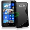 Tok szilikon,  Nokia Lumia 820,  fekete