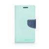 Tok, Telone Fancy oldalra nyíló flip tok, szilikon belsővel, Huawei Honor 9, menta zöld-kék, csomagolás nélküli