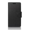 Tok, Telone Fancy oldalra nyíló flip tok, szilikon belsővel, Lenovo Vibe C2, fekete, csomagolás nélküli