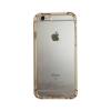 Tok, ütésálló szilikon tok, arany kerettel, Apple iPhone 6 Plus, kemény átlátszó hátlap, csomagolás nélkül