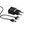 Töltő, hálózati, Samsung töltőfej /ETA-90EBE/, tab kábel/ECC1DP0UBE/, 2A, gyári, fekete, csomagolás nélküli