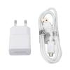 Töltő, hálózati, Samsung töltőfej /ETA-U90E/, kábel /ECB-DU4EWE/,150 cm, 2A, gyári, (microUSB), fehér, csomagolás nélküli