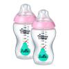 Tommee Tippee Közelebb a természeteshez BPA-mentes cumisüveg 340ml duo rózsaszín