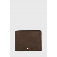 Tommy Hilfiger - Bőr pénztárca Johnson - sötét barna - 1427962-sötét barna