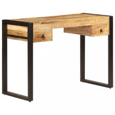 Tömör mangófa íróasztal 2 fiókkal 110 x 50 x 77 cm íróasztal