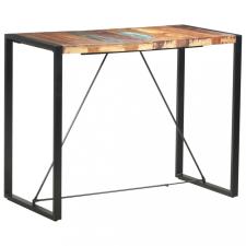 Tömör újrahasznosított fa bárasztal 140 x 70 x 110 cm kerti bútor