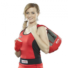 Top Ten Box felső, női, TOP TEN, piros, M méret női edző felszerelés