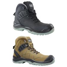 TOP TS 4949 S3 SRC védőbakancs, kompozit orrmerevítő, kevlár talplemez, nubuk bőr felsőrész, barna, 45 munkavédelmi cipő