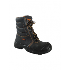 TOP WINTON S3 SRC magasszáru védőbakancs, narancs bélés, acél orrmerevítő és talplemez, fekete, 47 munkavédelmi cipő