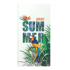 TOPTIMER Zsebnaptár TOPTIMER Joy J035 heti álló fehér lapos Summer 2021. naptár, kalendárium