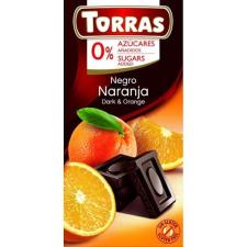 TORRAS GLUTÉNMENTES ÉTCSOKOLÁDÉ NARANCS CUKOR NÉLKÜL 75 G gluténmentes termék