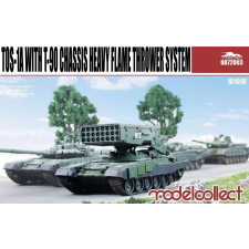 TOS-1A with T-90 Chassis Heavy Flame Thrower System makett UA72003 rc autó