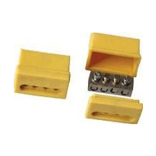 Tracon Electric Szigetelt csavaros vezetékösszekötő, sárga ház - 4x(1,5-4mm2), 450V, max. 40A TRK4 - Tracon villanyszerelés