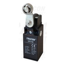 TRACON VP118 Helyzetkapcsoló, lengőkar-görgő 1×NO+1×NC, 6A/230V AC, 28mm, IP65 villanyszerelés