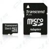 Transcend Memóriakártya MicroSDHC 32GB Class 4 + adapter