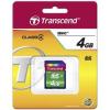 Transcend Memóriakártya SDHC 4GB CLASS 4  (TS4GSDHC4)