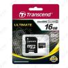 Transcend Transcend Memóriakártya Micro SDHC 16GB Class 10 + adapter