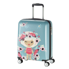 TRAVELITE Bőrönd TRAVELITE Lil Ledy S kék 4 kerekű kabin