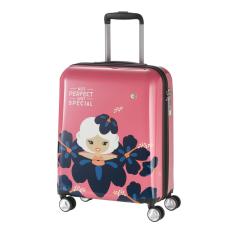 TRAVELITE Bőrönd TRAVELITE Lil Ledy S pink 4 kerekű kabin