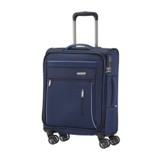 TRAVELITE CAPRI S kék négykerekű kis kabin bőrönd