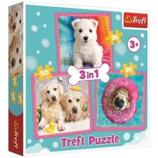 Trefl : Kölyök kutyák 3 az 1-ben puzzle puzzle, kirakós