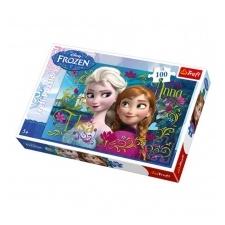 Trefl puzzle és társasjáték Trefl Jégvarázs 100 db-os puzzle - Anna és Elza társasjáték
